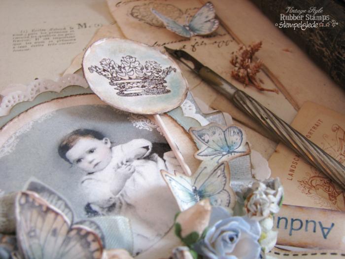 Stempelglede - Vintage Baby Lollipop Card