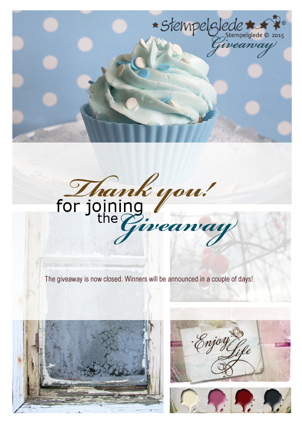 Thank you for joining Stempelglede's Giveaway and Challenge, February 2015