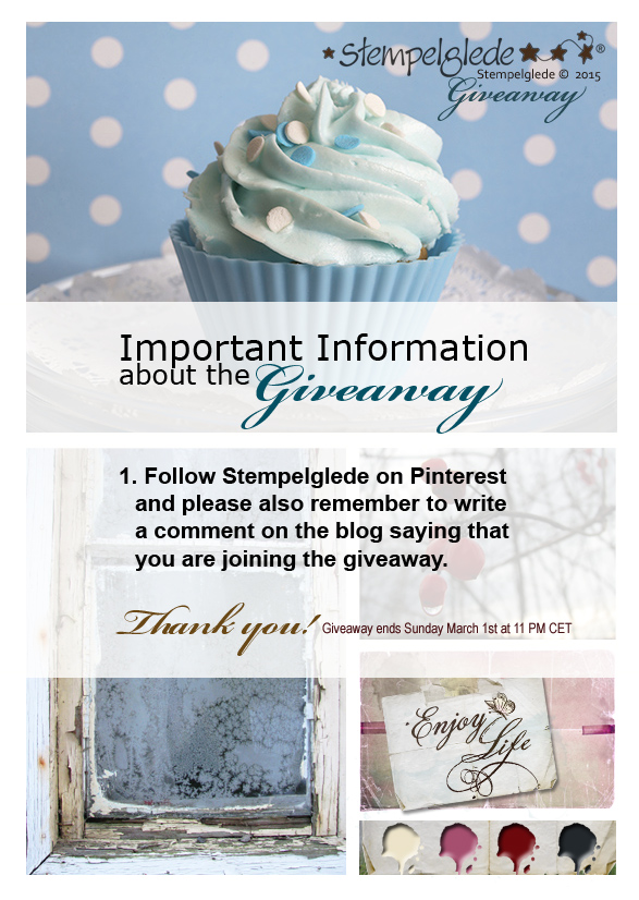 Stempelglede Giveaway and Challenge February 2015 - Reminder